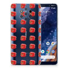 Nokia 9 PureView Siliconen Case Paprika Red