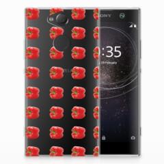 Sony Xperia XA2 Siliconen Case Paprika Red