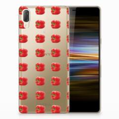 Sony Xperia L3 Siliconen Case Paprika Red