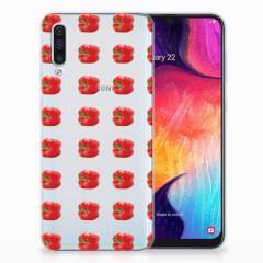 Samsung Galaxy A50 Siliconen Case Paprika Red