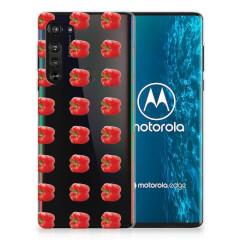 Motorola Edge Siliconen Case Paprika Red