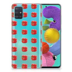 Samsung Galaxy A51 Siliconen Case Paprika Red