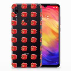 Xiaomi Redmi Note 7 Pro Siliconen Case Paprika Red