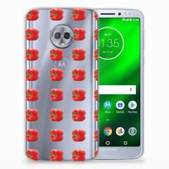 Motorola Moto G6 Plus Siliconen Case Paprika Red