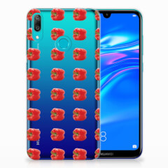 Huawei Y7 2019 Siliconen Case Paprika Red
