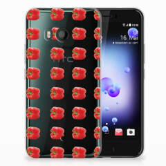 HTC U11 Siliconen Case Paprika Red