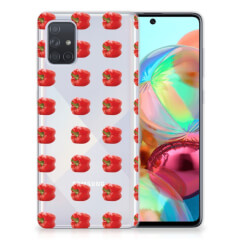 Samsung Galaxy A71 Siliconen Case Paprika Red