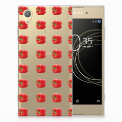 Sony Xperia XA1 Plus Siliconen Case Paprika Red