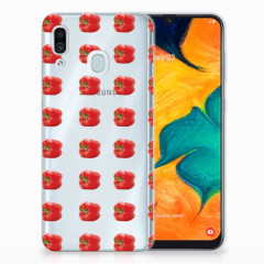 Samsung Galaxy A30 Siliconen Case Paprika Red