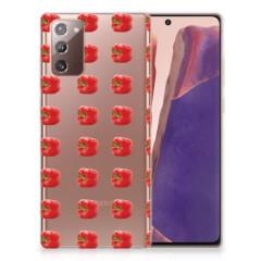 Samsung Note 20 Siliconen Case Paprika Red