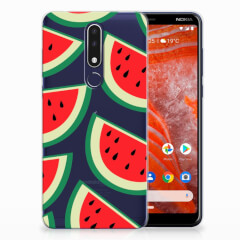 Nokia 3.1 Plus Siliconen Case Watermelons