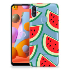 Samsung Galaxy A11   M11 Siliconen Case Watermelons