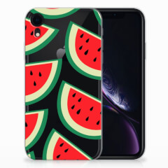 Apple iPhone Xr Siliconen Case Watermelons