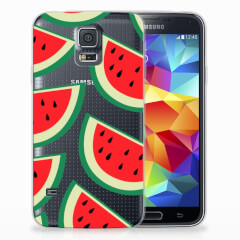 Samsung Galaxy S5 Siliconen Case Watermelons