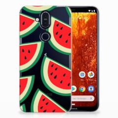 Nokia 8.1 Siliconen Case Watermelons