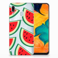 Samsung Galaxy A30 Siliconen Case Watermelons