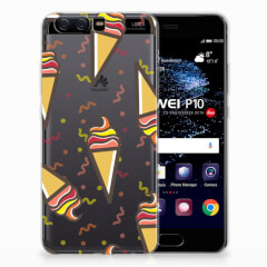 Huawei P10 Siliconen Case Icecream