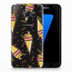 Samsung Galaxy S7 Edge Siliconen Case Icecream