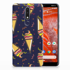Nokia 3.1 Plus Siliconen Case Icecream