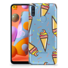Samsung Galaxy A11 | M11 Siliconen Case Icecream
