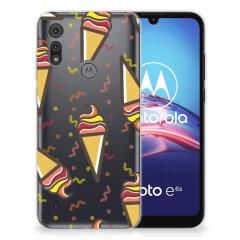 Motorola Moto E6s Siliconen Case Icecream
