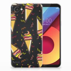 LG Q6   LG Q6 Plus Siliconen Case Icecream