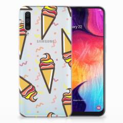 Samsung Galaxy A50 Siliconen Case Icecream