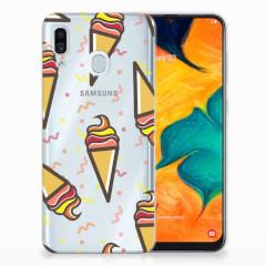 Samsung Galaxy A30 Siliconen Case Icecream