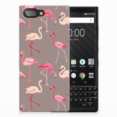 BlackBerry Key2 TPU Hoesje Flamingo