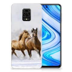 Xiaomi Redmi Note 9S | Note 9 Pro TPU Hoesje Paarden