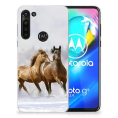Motorola Moto G8 Power TPU Hoesje Paarden