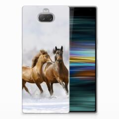 Sony Xperia 10 Plus TPU Hoesje Paarden