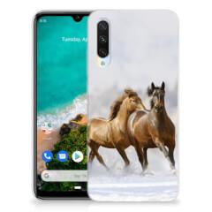 Xiaomi Mi A3 TPU Hoesje Paarden