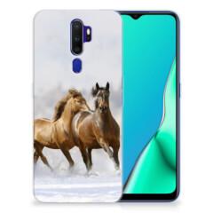 OPPO A9 2020 TPU Hoesje Paarden