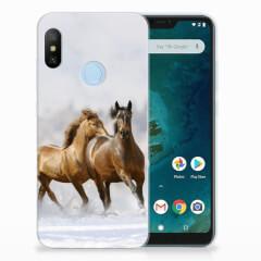 Xiaomi Mi A2 Lite TPU Hoesje Paarden