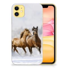 Apple iPhone 11 TPU Hoesje Paarden