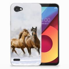 LG Q6 | LG Q6 Plus TPU Hoesje Paarden