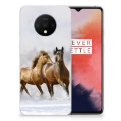 OnePlus 7T TPU Hoesje Paarden
