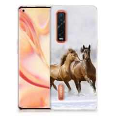 OPPO Find X2 Pro TPU Hoesje Paarden