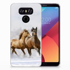 LG G6 TPU Hoesje Paarden