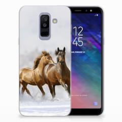 Samsung Galaxy A6 Plus (2018) TPU Hoesje Paarden