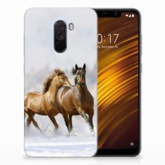 Xiaomi Pocophone F1 TPU Hoesje Paarden