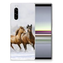 Sony Xperia 5 TPU Hoesje Paarden