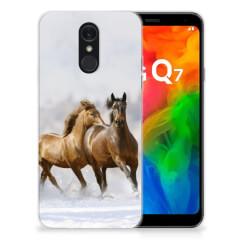 LG Q7 TPU Hoesje Paarden