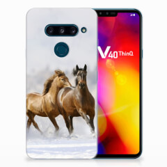 LG V40 Thinq TPU Hoesje Paarden