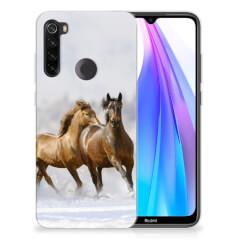 Xiaomi Redmi Note 8T TPU Hoesje Paarden