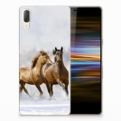 Sony Xperia L3 TPU Hoesje Paarden