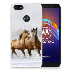 Motorola Moto E6 Play TPU Hoesje Paarden