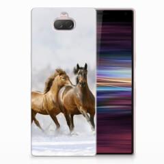 Sony Xperia 10 TPU Hoesje Paarden
