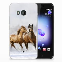 HTC U11 TPU Hoesje Paarden